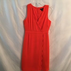 J Crew Scalloped Sleeveless Dress Gorgeous Color!
